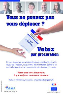 affiche nationale procuration